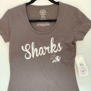 Shirt Sharks ladies Small, official clothing, new